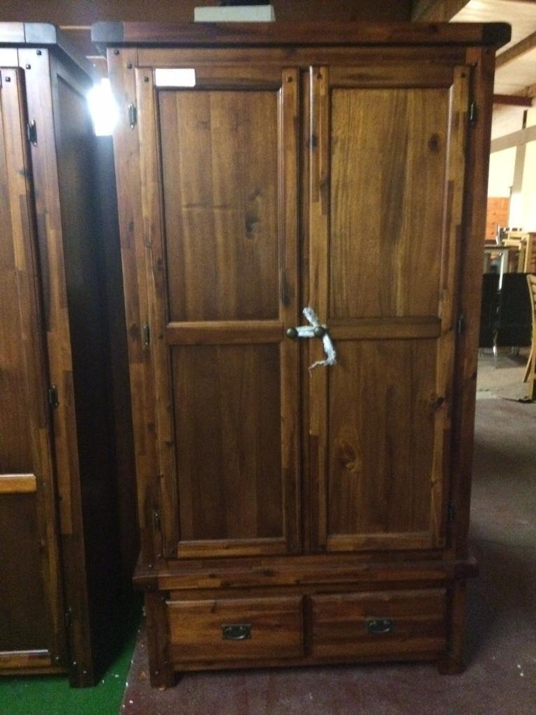 Dark Wood Wardrobes Two Left In Dungannon County Tyrone Gumtree With Dark Wood Wardrobes (Image 7 of 15)