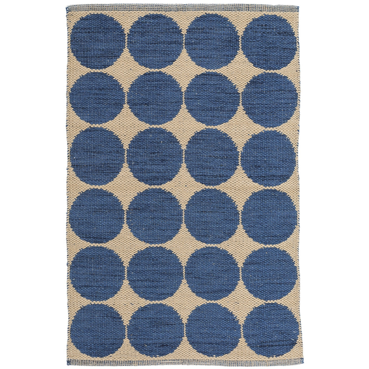Dash Albert Orbit Blue Woven Wool Rug Inside Wool Blue Rugs (Image 6 of 15)