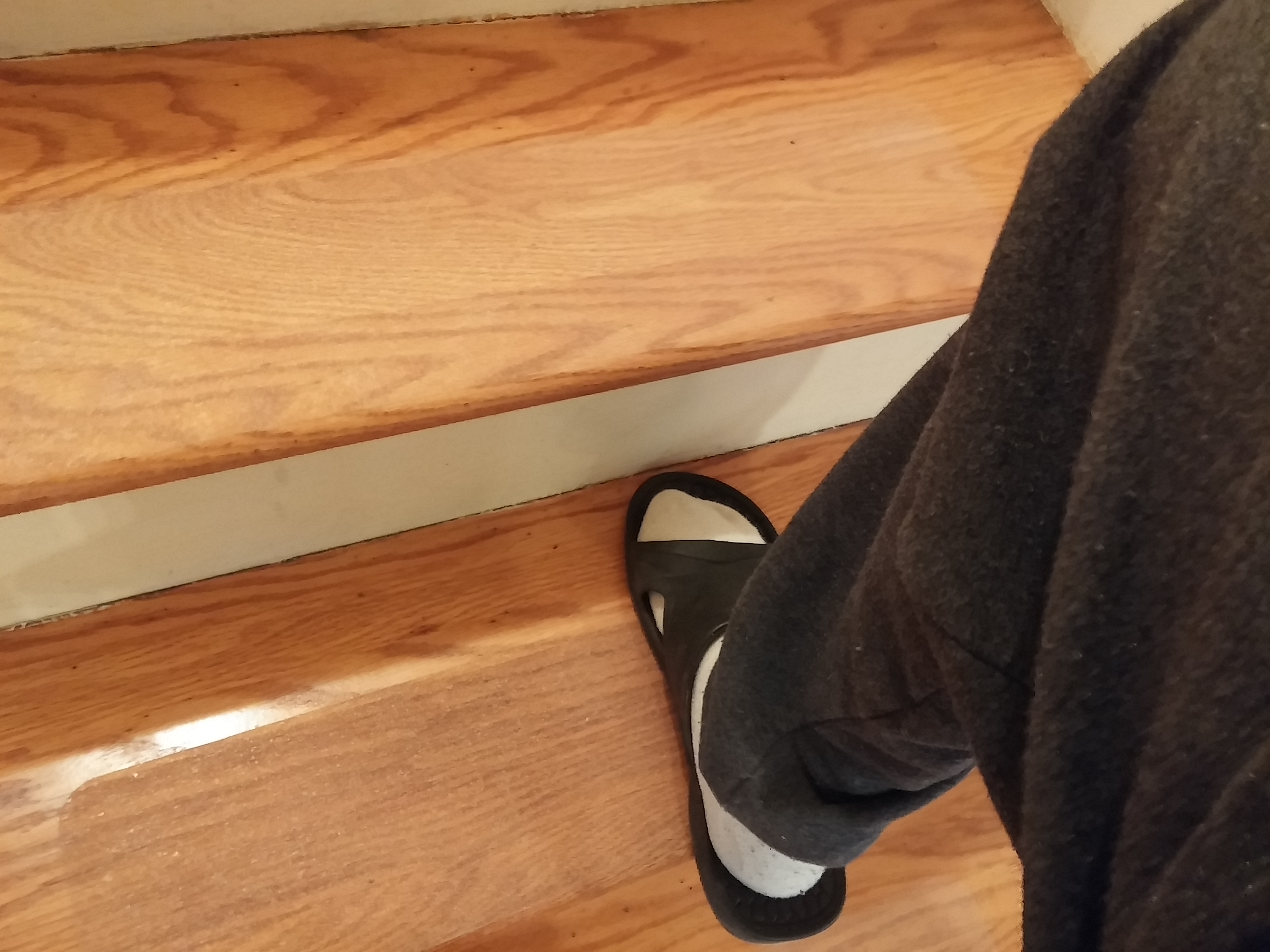 David Added Our Clear Grip Tape To Wood Stair Treads To Make Them With Wooden Stair Grips (Image 3 of 15)