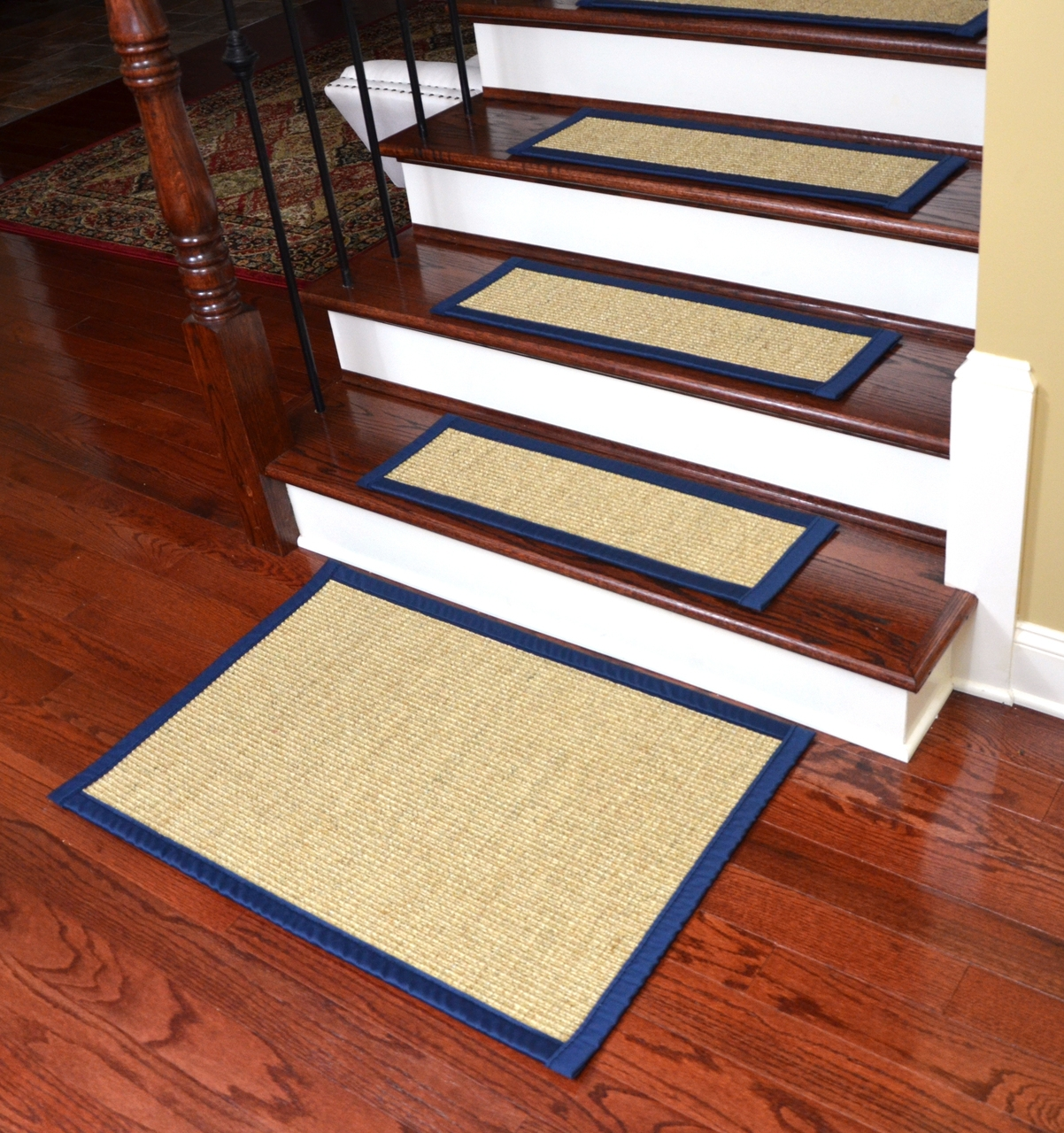 Dean Desertnavy Blue Non Slip Tape Free Pet Friendly Stair With Regard To Carpet Stair Treads Set Of  (Image 7 of 15)