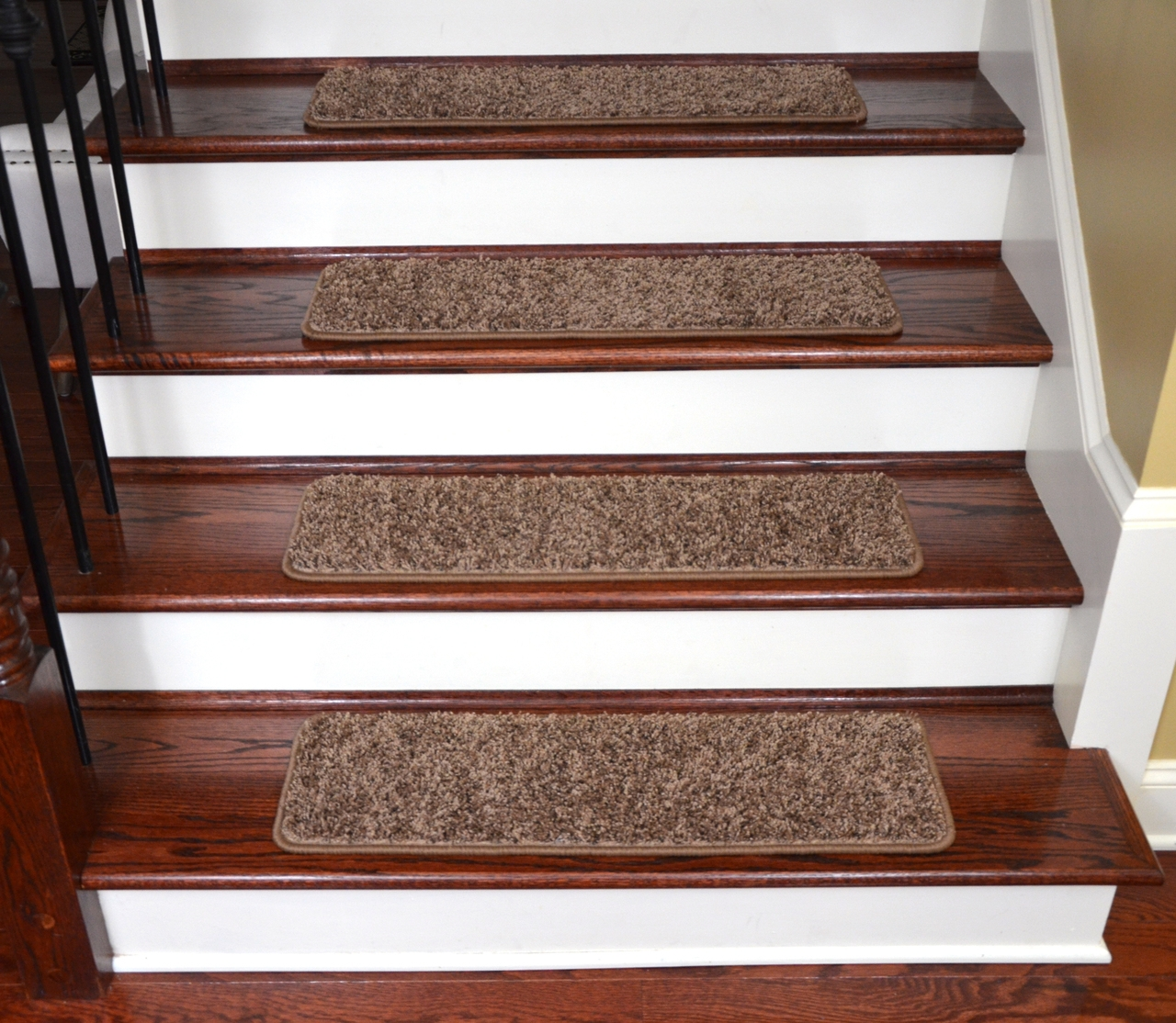 Dean Premium Stair Gripper Tape Free Non Slip Pet Friendly Diy In Basket Weave Washable Indoor Stair Tread Rugs (Image 8 of 15)
