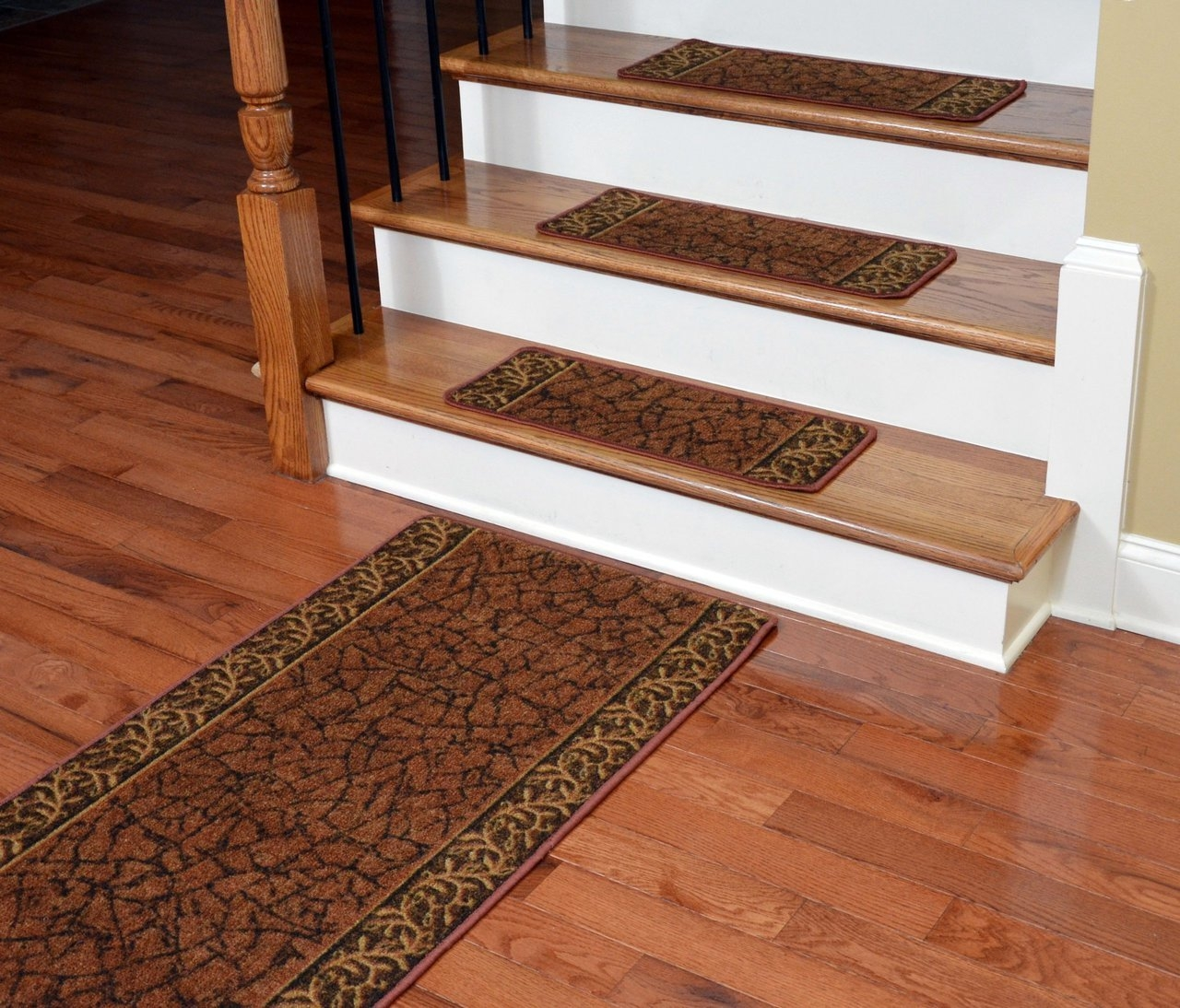 Dean Washable Non Skid Carpet Stair Treads Garden Path Terra Within Braided Stair Tread Rugs (Image 8 of 15)