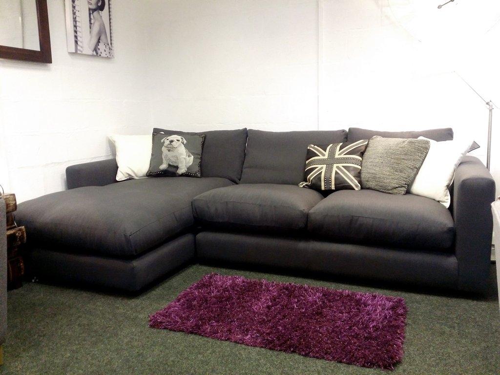 Debenhams Rjrjohn Rocha Trinity Grey Left Hand Corner Sofa Only Inside Cheap Corner Sofas (Image 7 of 15)