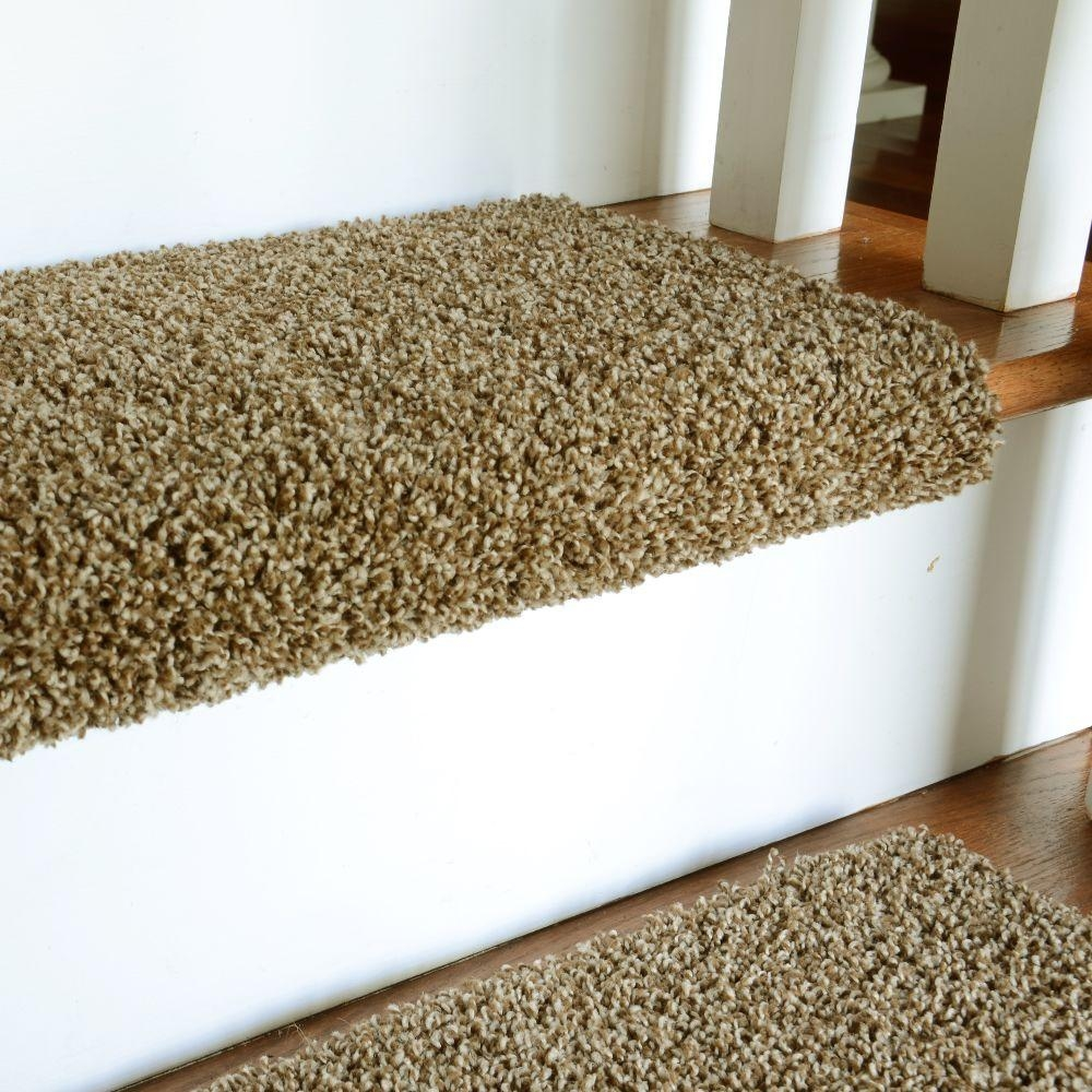 Decor Gorgeous Stair Treads Carpet Galleries With Best Top World Intended For Stair Tread Rug Pads (Image 3 of 15)