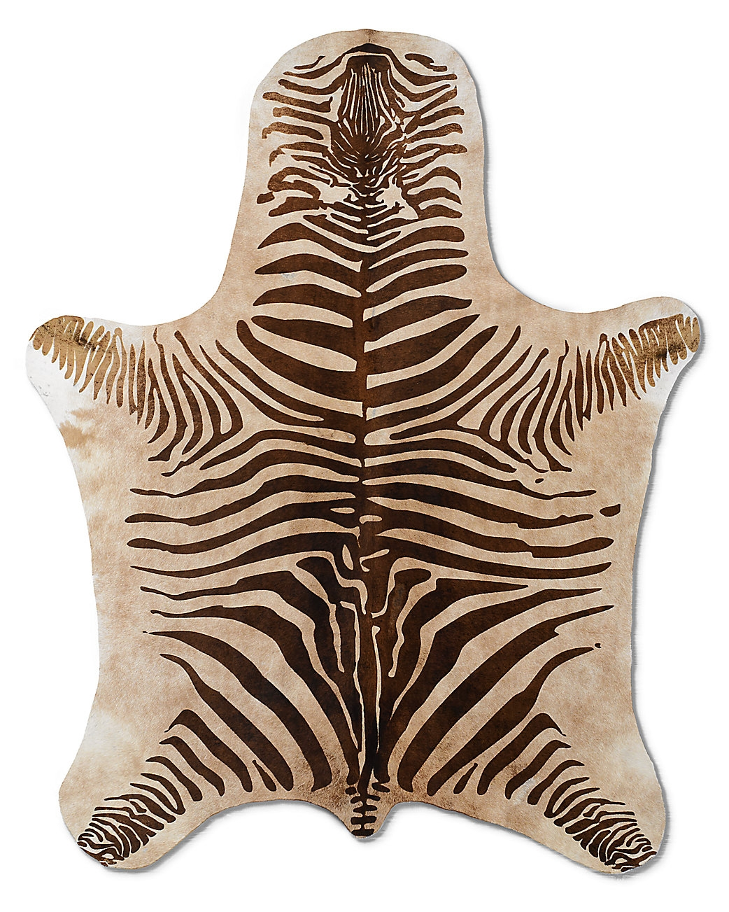 Decor Look Alikes Everybodys Doing It Zebra Cowhide Rugs For Zebra Skin Rugs (Image 3 of 15)