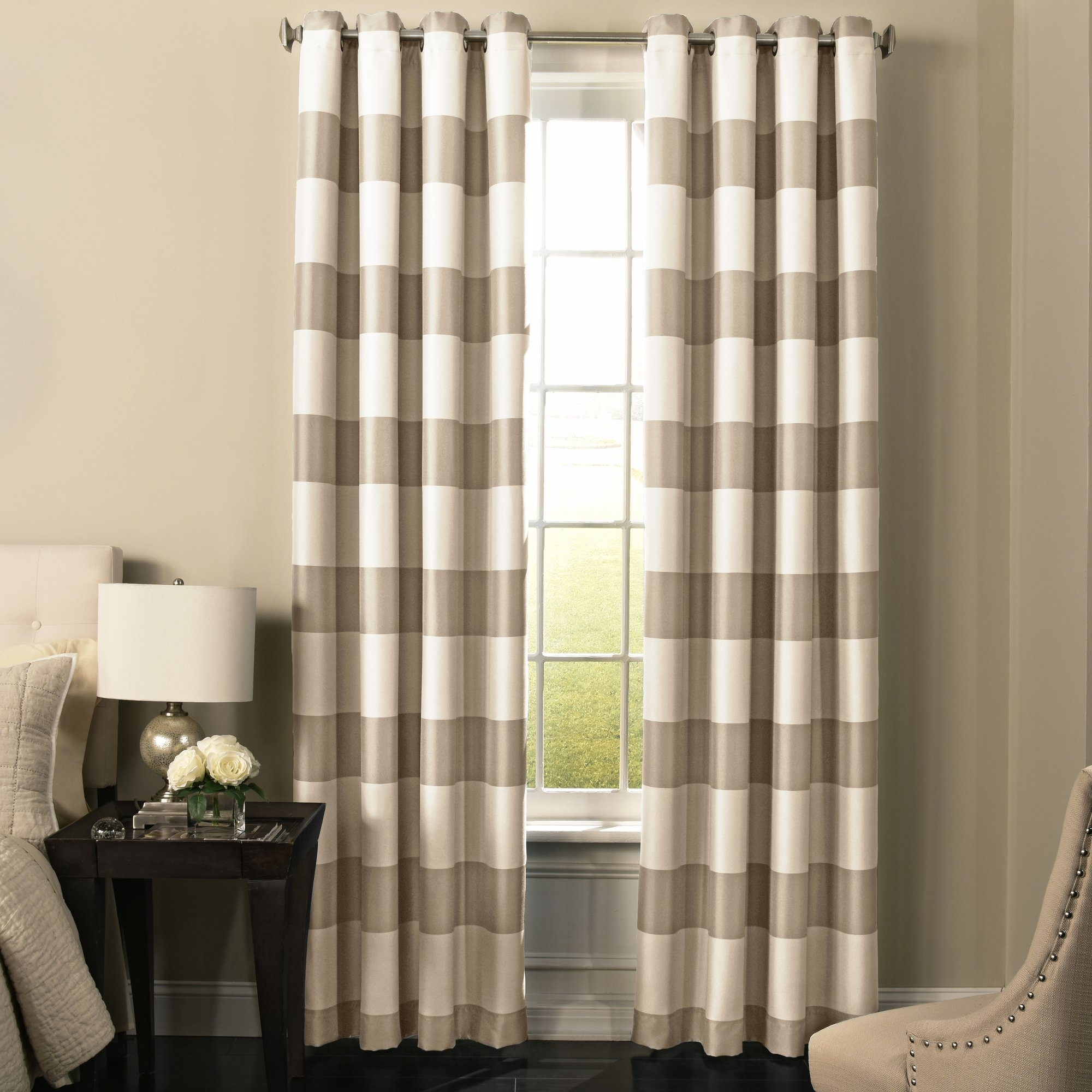 Decor Rug Stripe Curtains Grey And Ivory Curtains Turquoise With Regard To Stripe Curtains (Image 11 of 25)