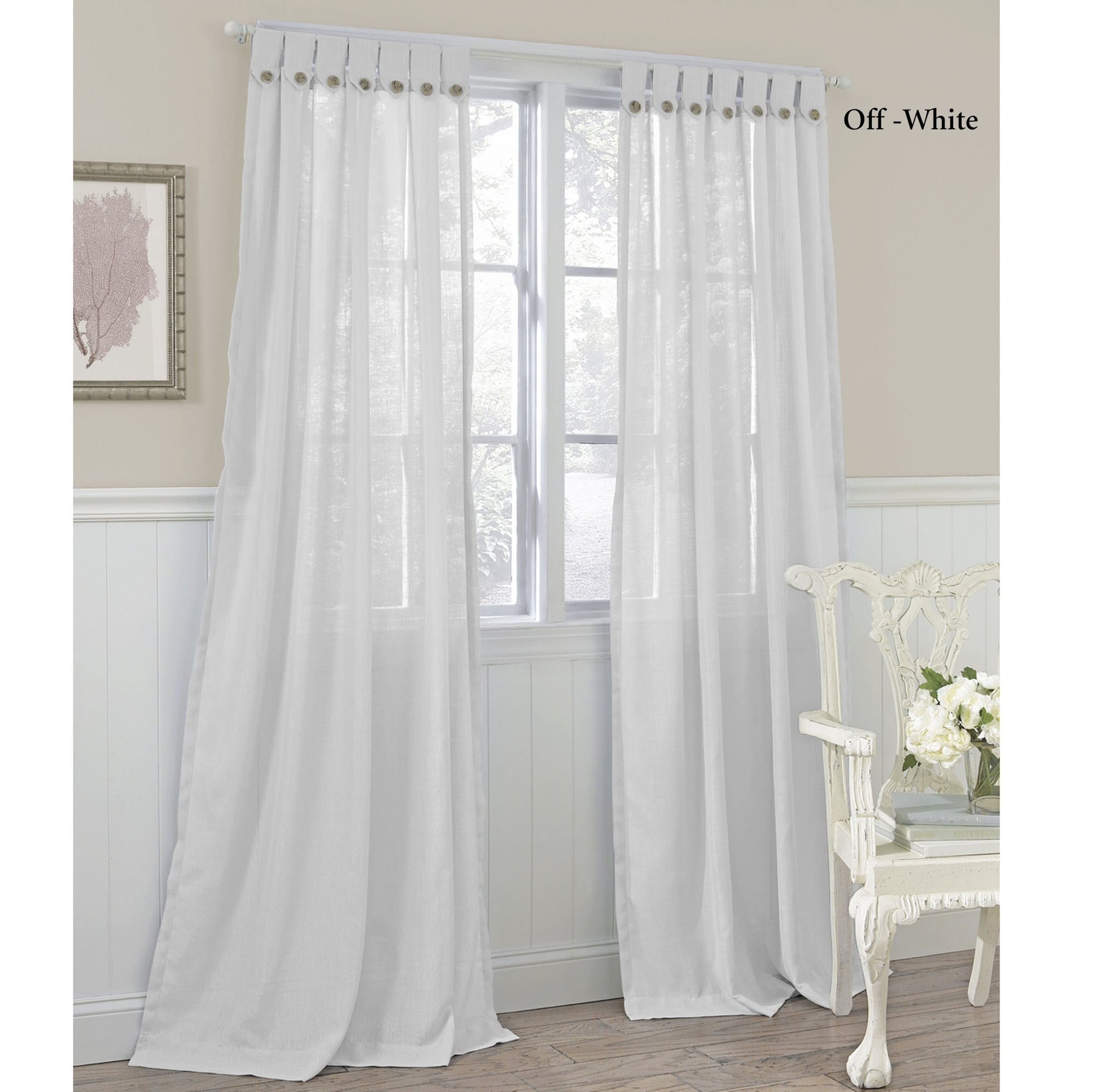 Decor Semi Sheer Curtains For Cute Interior Home Decor Ideas Within Sheer White Curtain Panels (Image 7 of 25)