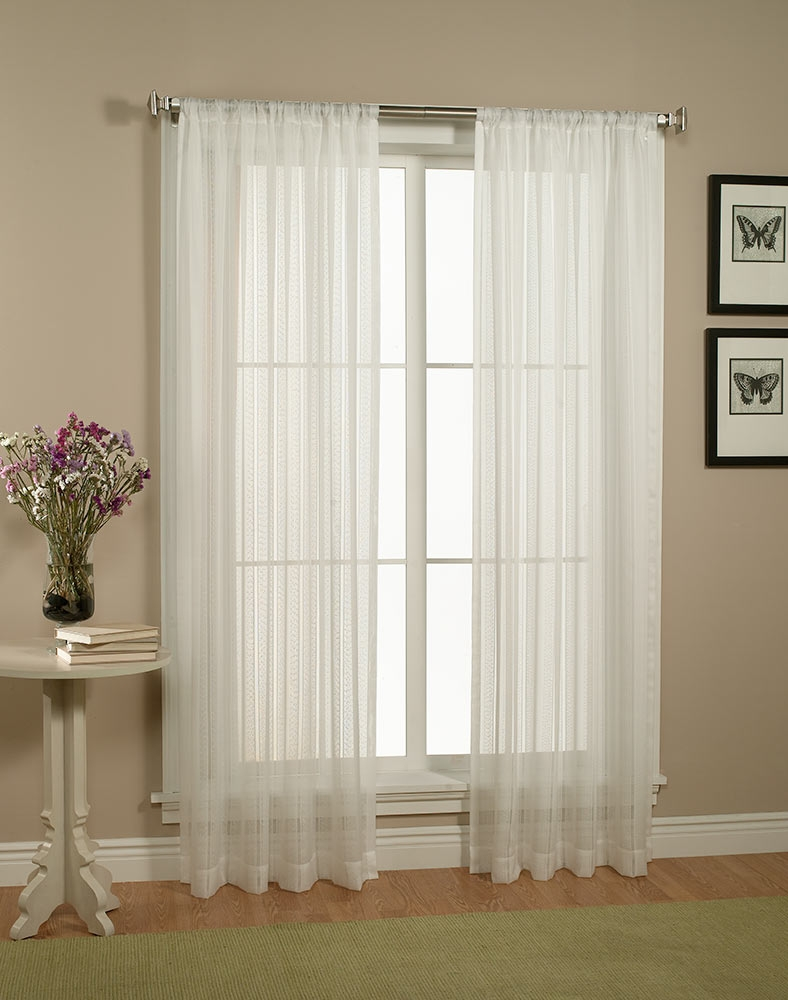 Decor Sheer Window Curtain Curtain Panels With Sheers Semi Within Curtains Sheers (Image 7 of 25)