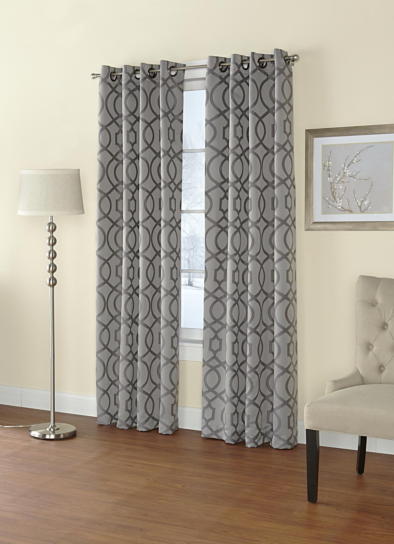 Decor Silver Blackout Curtain Kmart Curtains For Home Pertaining To Pattern Curtain Panels (Image 8 of 25)