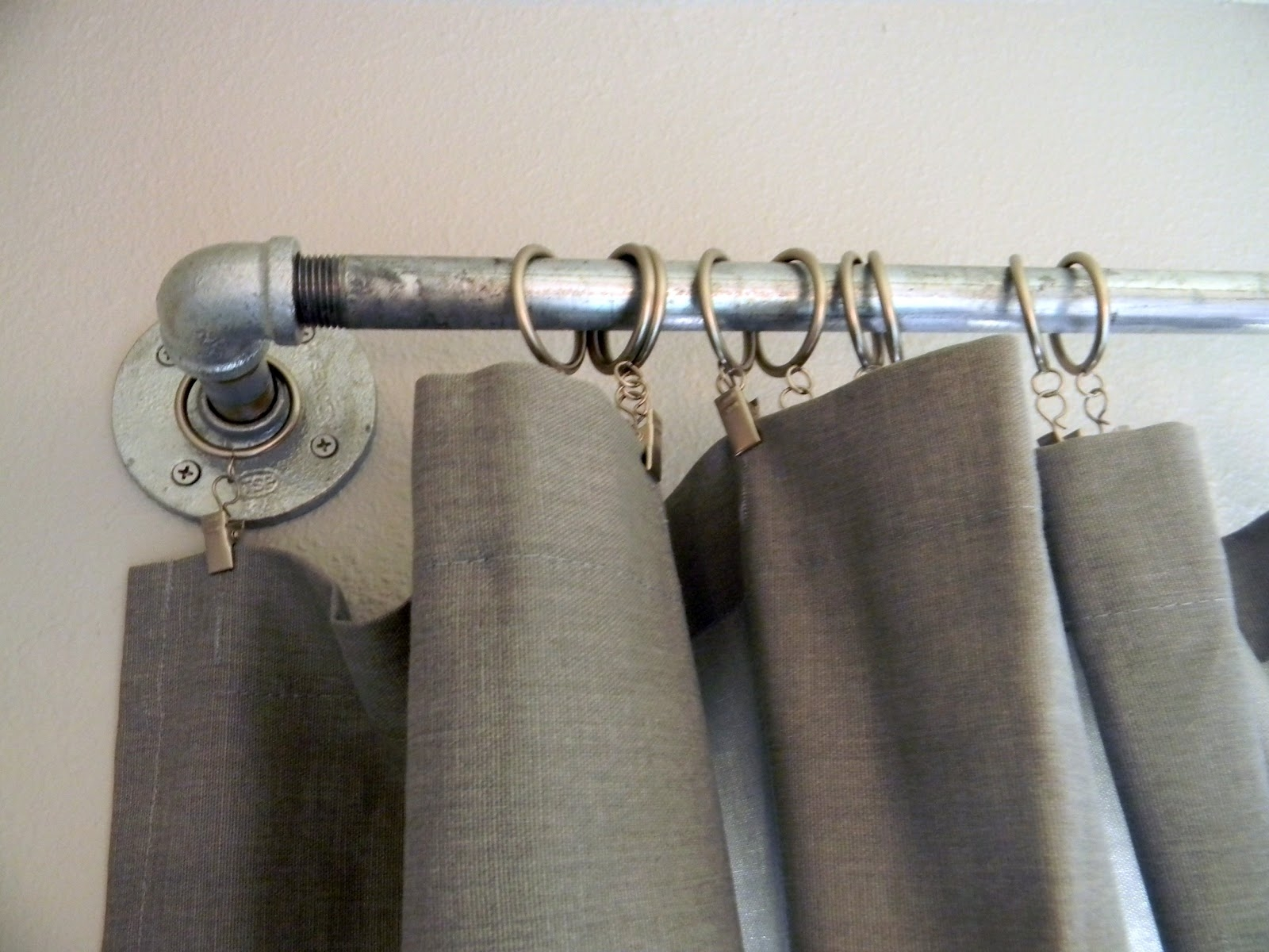 Decorating Antique Stainless Steel Cheap Curtain Rods With Gray For Antique Curtain Rods (View 15 of 25)