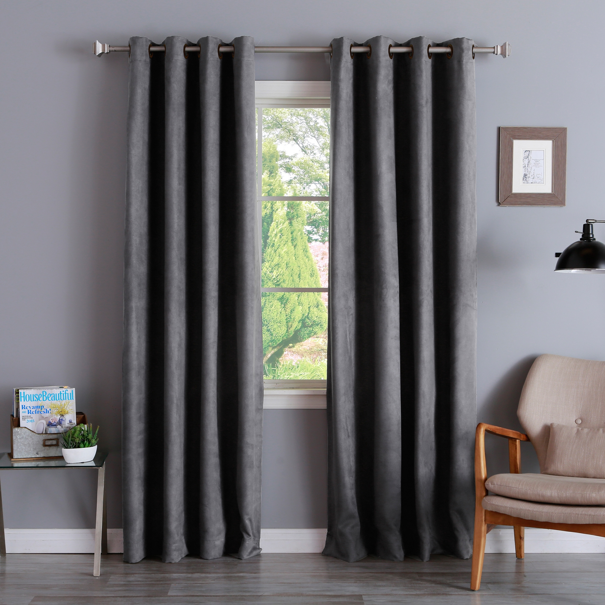 Decorating Excellent Interior Home Decorating With Elegant Inside Faux Suede Curtain Panels (Image 11 of 25)