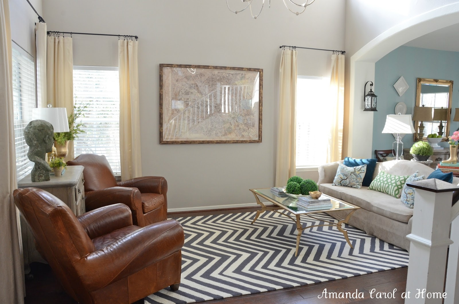 Decorating Ideas Classy Image Of Accessories For Living Room Throughout Black And Grey Chevron Rugs (Image 7 of 15)