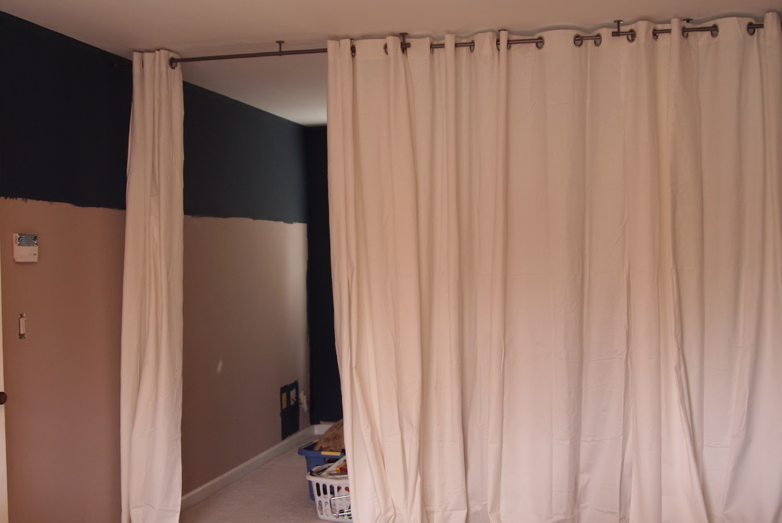 Decorating Ikea Panelurtain Hackurtains Inch Ideas Inspiration Within Room Curtain Divider IKEA (Image 5 of 25)
