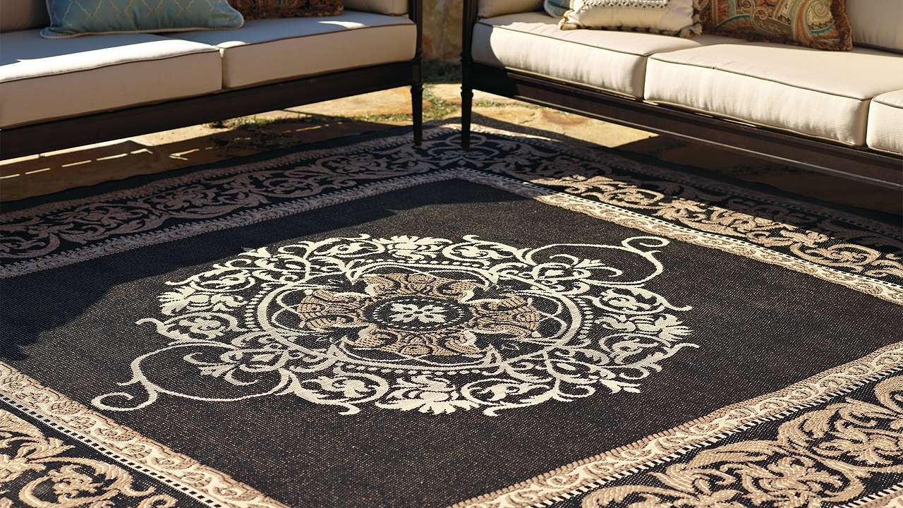 Decorating Inspiring Patio Decor Ideas With Decorative Target Throughout Outside Carpets (Image 3 of 15)