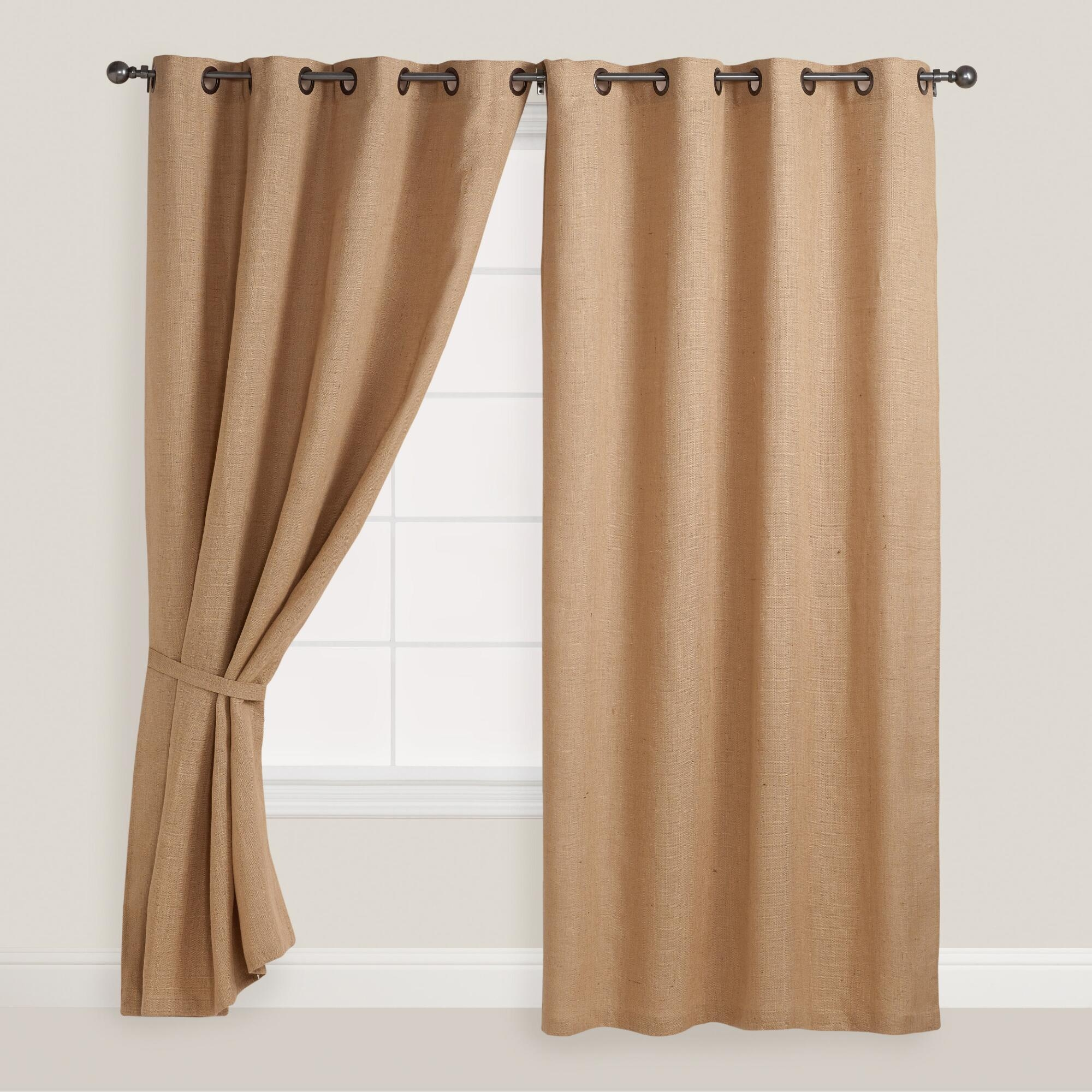 Decorating Make Your Home More Beautiful With Burlap Curtains For Inside Burlap Curtains (Image 16 of 25)