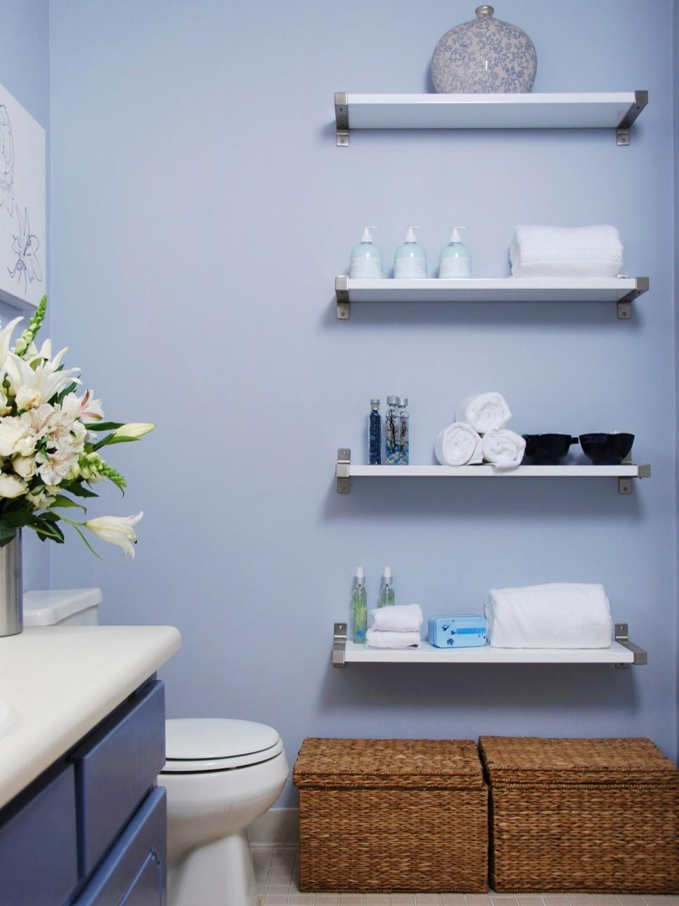 Decorating With Floating Shelves Hgtv Pertaining To Free Floating Glass Shelves (View 12 of 15)