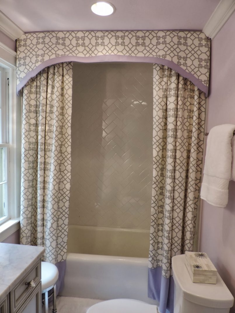 Decorations Cute Bathroom Decor Ideas With Shower Curtains With In Double Panel Shower Curtains (View 3 of 25)