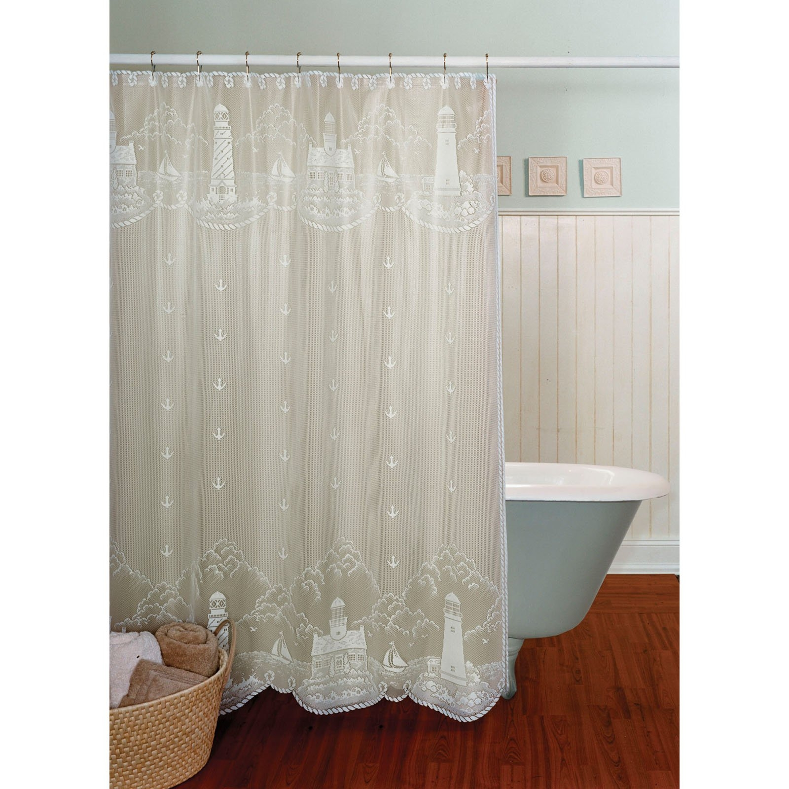 Decorations Cute Bathroom Decor Ideas With Shower Curtains With Inside Lace Curtain Sets (View 9 of 25)