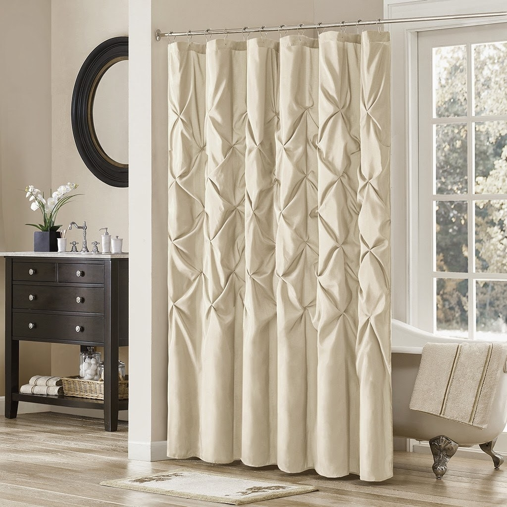Decorations Cute Bathroom Decor Ideas With Shower Curtains With Pertaining To Double Panel Shower Curtains (View 2 of 25)