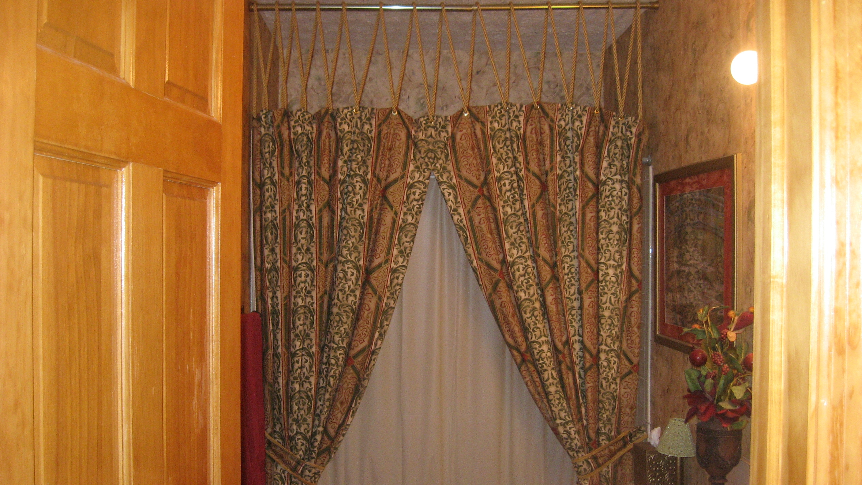 Decorations Shower Stall Curtains Swag Shower Curtain Shower Throughout Double Panel Shower Curtains (View 23 of 25)