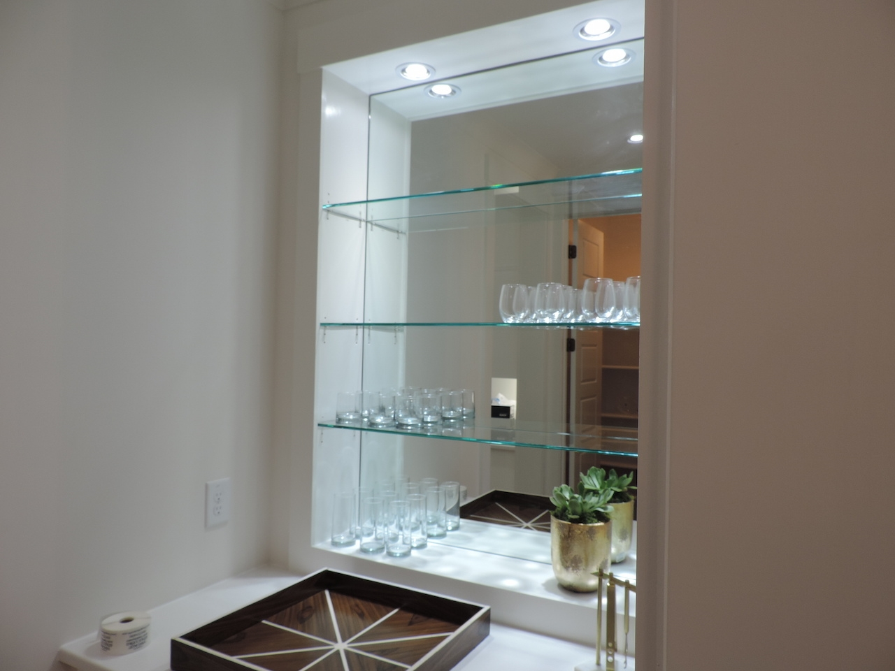 Decorative Custom Glass Shelves Home Decorations Inside Glass Shelving (Image 4 of 15)
