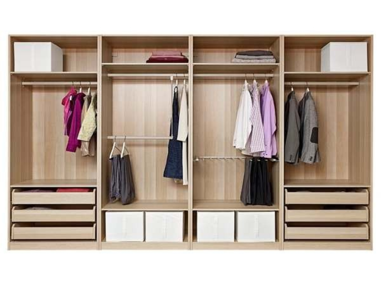 Delightful Drawers For Closet Roselawnlutheran Throughout Wardrobes With Shelves And Drawers (Image 7 of 15)