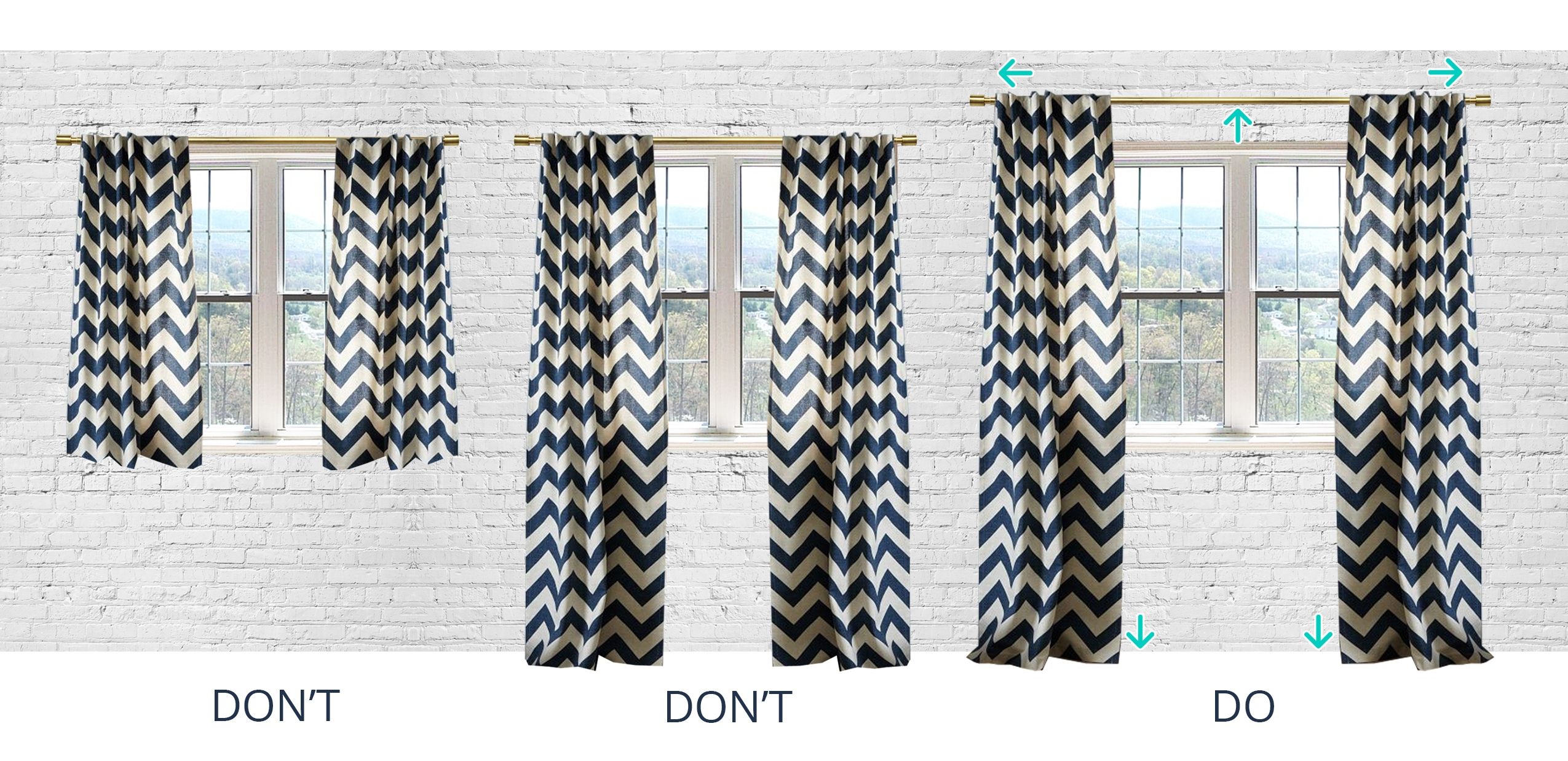 Designer Tip How To Hang Your Curtains The Havenly Blog Intended For Hanging Curtains (View 3 of 25)