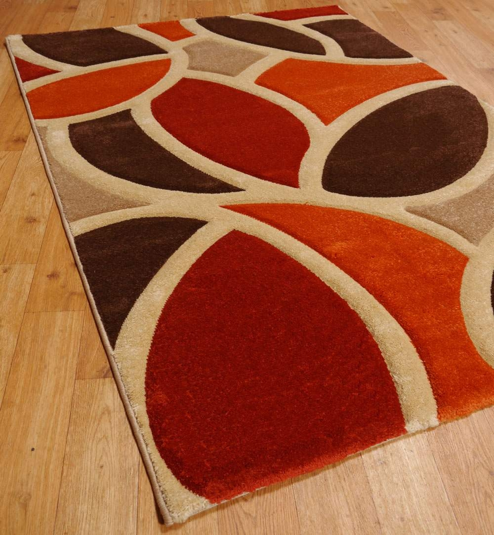 Details About Gy Rug Thick Soft Warm Terracotta Burnt Orange With Regard To Brown Rugs