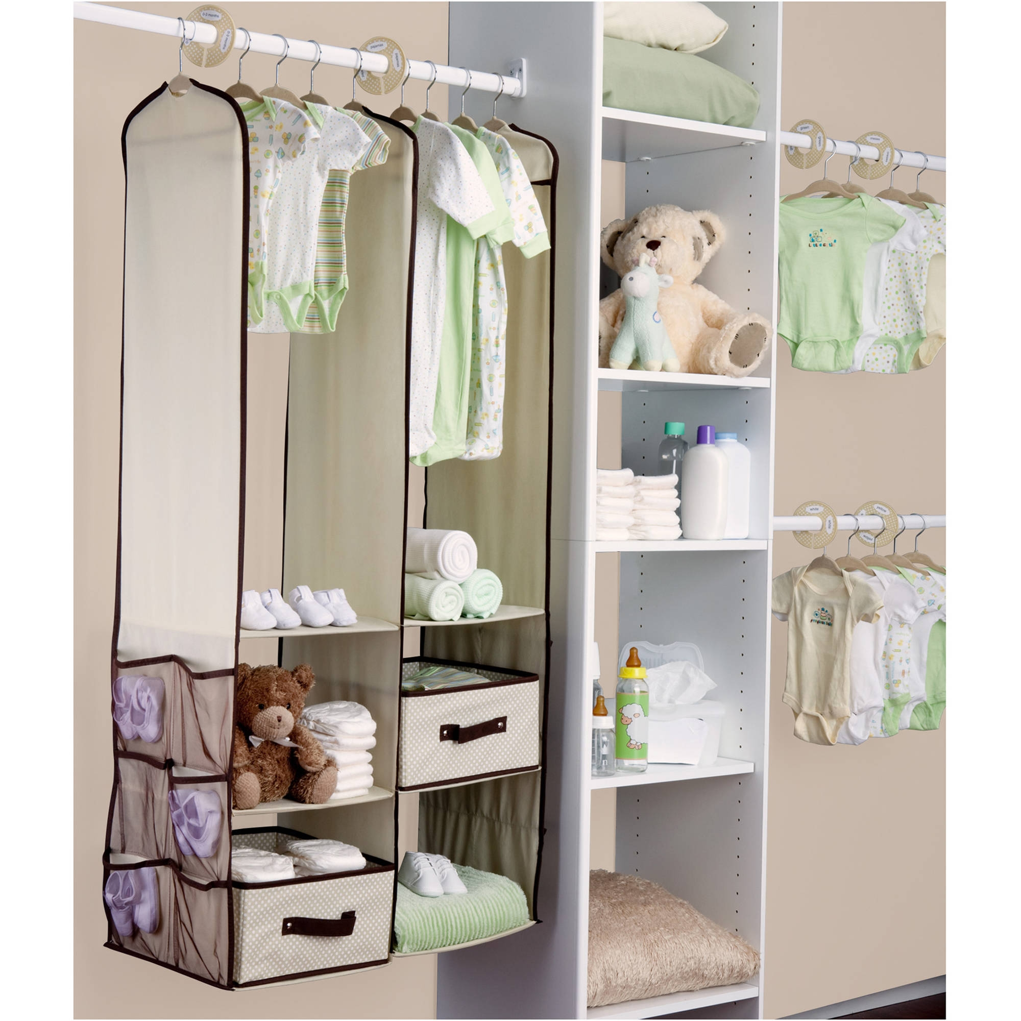 Dex Ba Playard Organizer Gray Walmart Throughout Wardrobe For Baby Clothes (View 8 of 25)