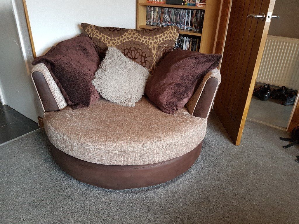 Dfs 3 Seater Sofa Couch Cuddle Chair And Pouffe In Kilwinning For 3 Seater Sofa And Cuddle Chairs (Image 6 of 15)