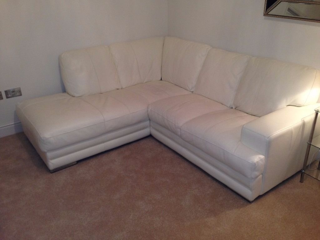 Dfs White Leather Corner Sofa Two Seater Sofa Combo In Pertaining To White Leather Corner Sofa (Image 6 of 15)