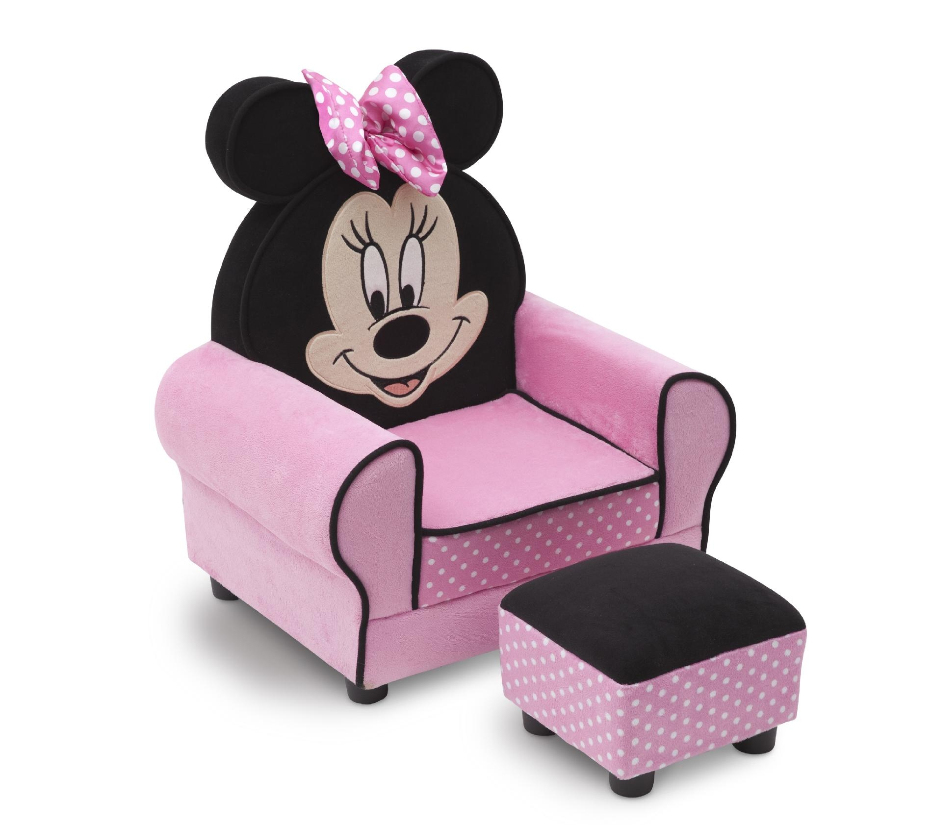 Disney Mickey Mouse Clubhouse Toddler Sofa Chair And Ottoman Throughout Disney Sofa Chairs (Image 4 of 15)