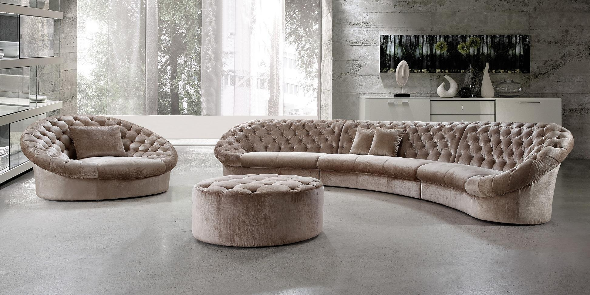 Divani Casa Cosmopolitan Sectional Sofa Chair And Ottoman Buy Regarding Sofa Chair And Ottoman (Image 7 of 15)