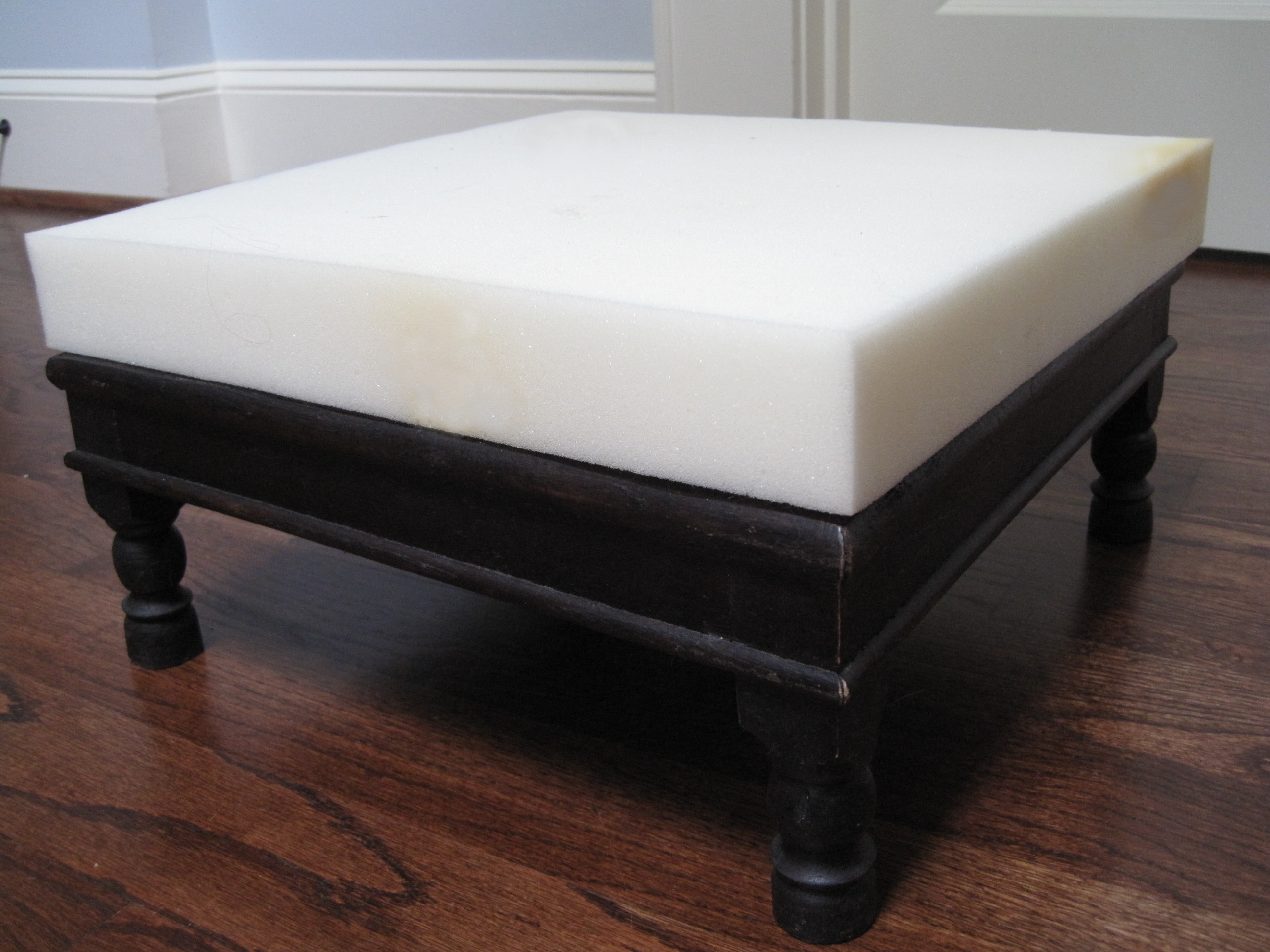 Diy A No Sew Upholstered Footstool Tamara Heather Interior Design With Regard To Upholstered Footstools (Image 3 of 15)