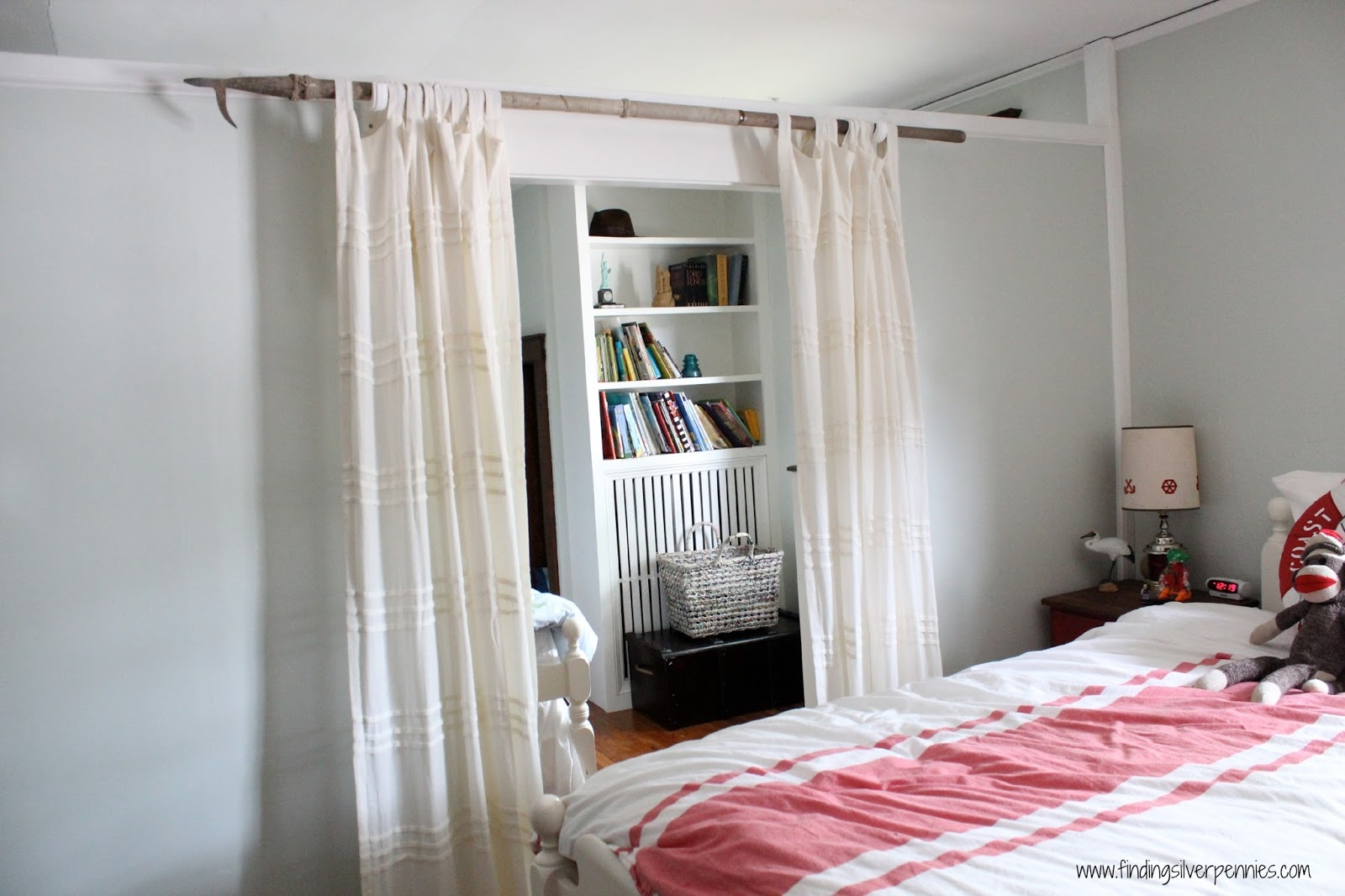 Diy Curtain Rod Finding Silver Pennies In Nautical Curtain Rods (View 4 of 25)