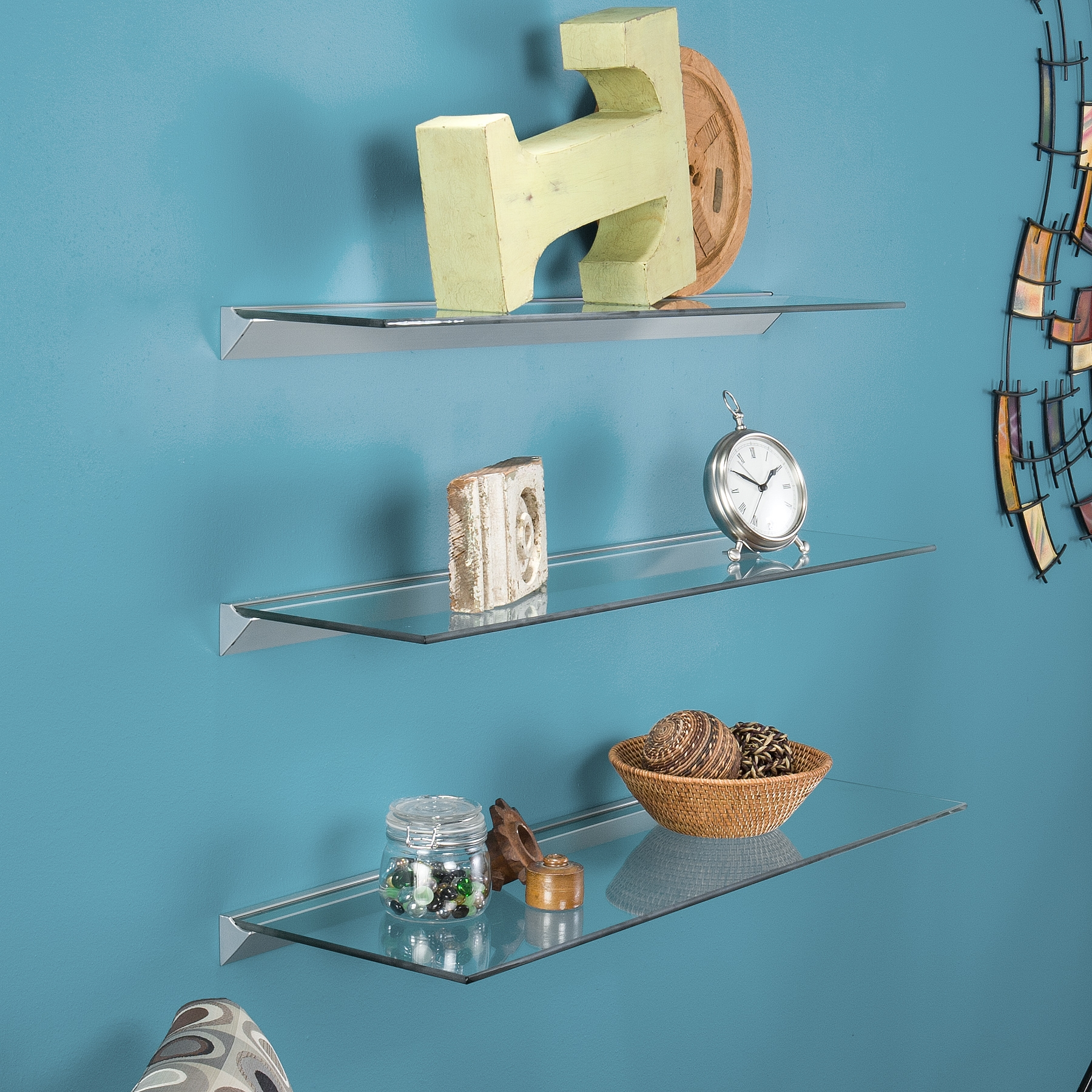 Featured Image of Clear Glass Floating Shelves