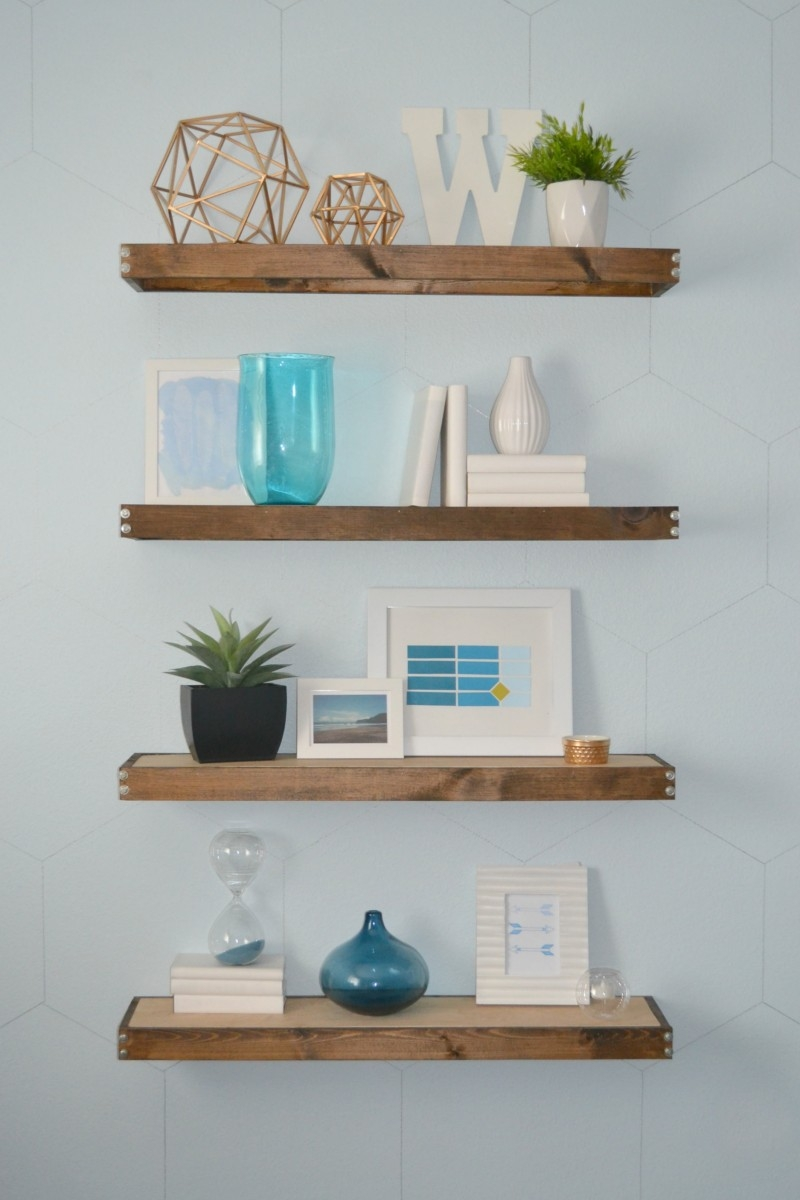 Diy Rustic Modern Floating Shelves Part One With Floating Shelves (Image 6 of 15)