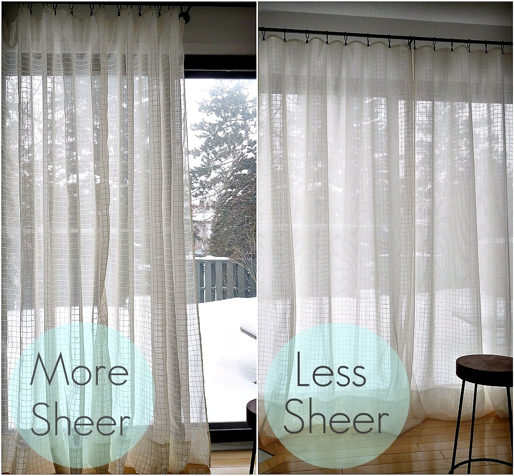Diy Sheer Sandwich Curtains Dans Le Lakehouse With Regard To Curtains Sheers (Image 8 of 25)