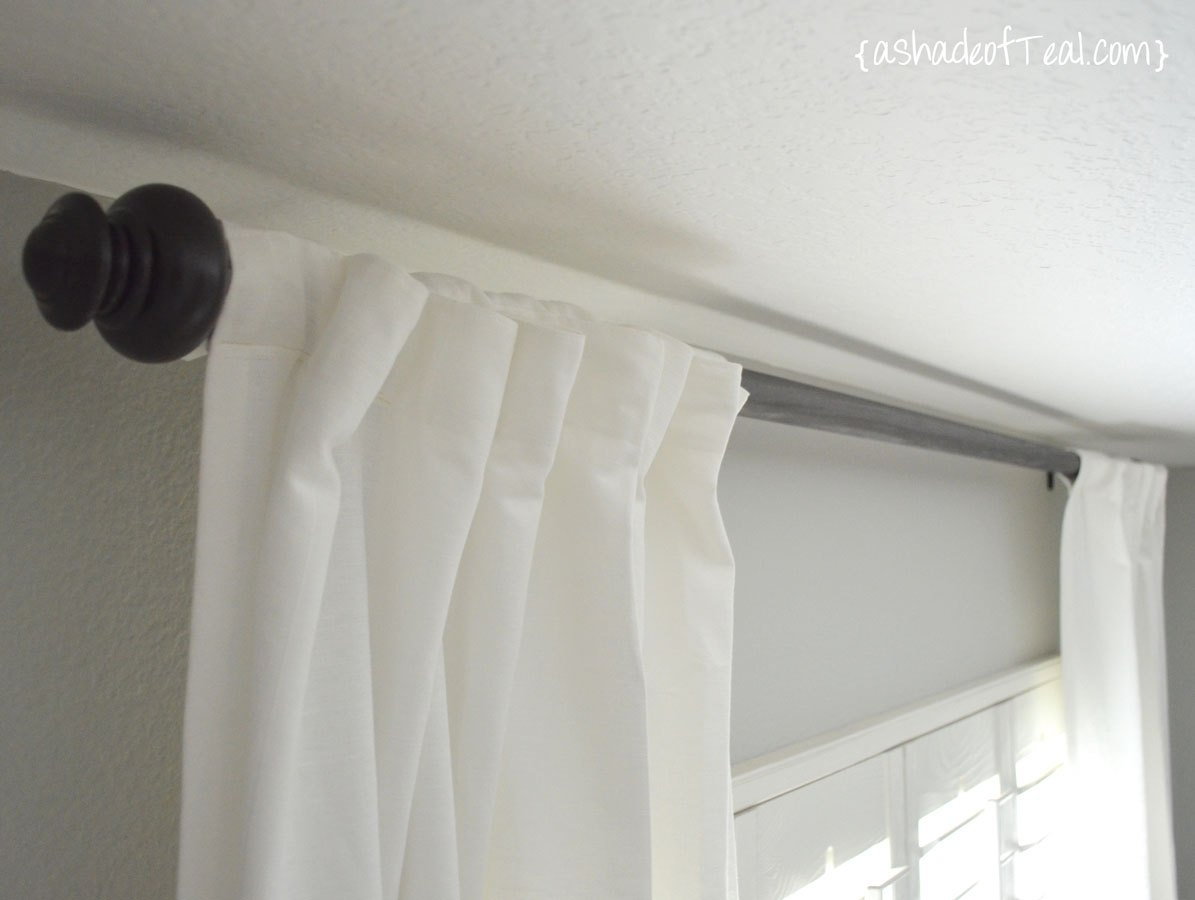 Diy Wood Curtain Rod For Under 20 Pertaining To Deep Curtain Rods (View 13 of 25)