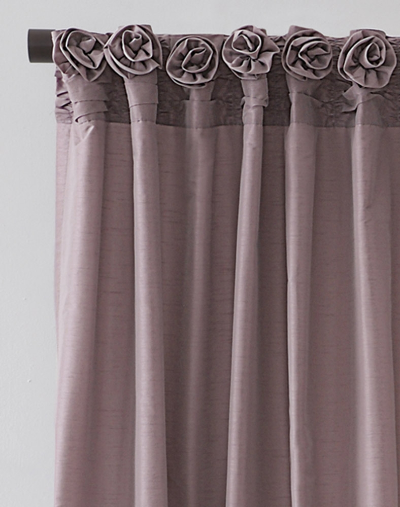 Dkny Rosette Window Curtain Panel Curtainworks Regarding 54 Inch Long Curtain Panels (View 23 of 25)