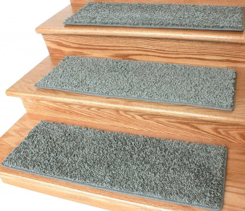 Dog Assist Carpet Stair Treads Steel Gray 9 X Regarding Grey Carpet Stair Treads (Image 4 of 15)