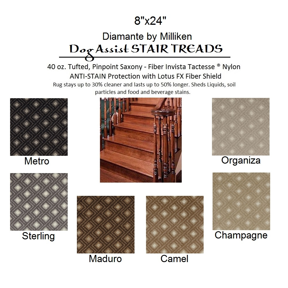 Dog Assist Carpet Stair Treads Throughout Stair Tread Rugs For Dogs (Image 6 of 15)