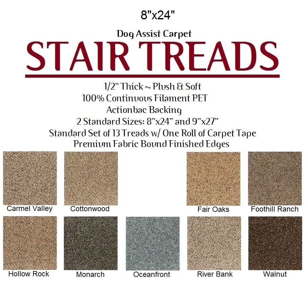 Dog Assist Carpet Stair Treads With Regard To Fabric Stair Treads (Image 8 of 15)