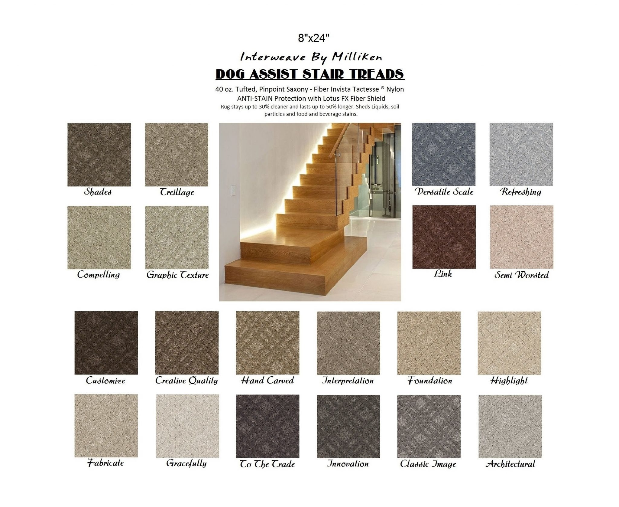 Dog Assist Carpet Stair Treads Within Carpet Stair Treads For Dogs (Image 5 of 15)
