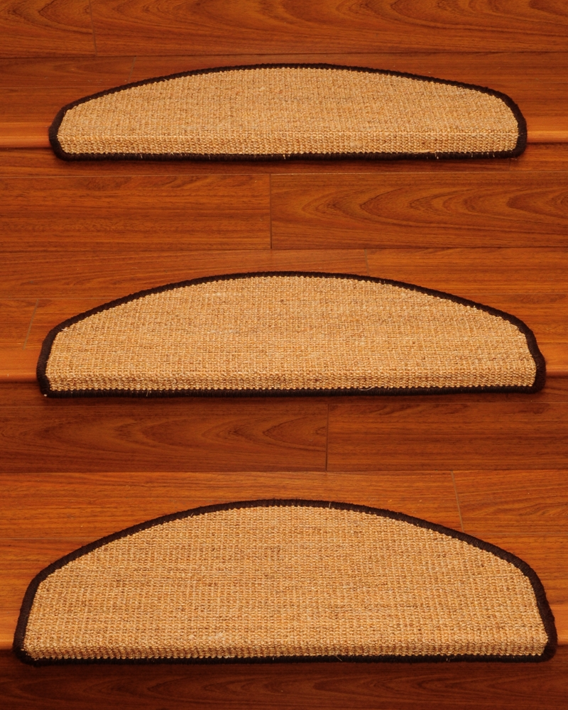 Domino Euro Sisal Carpet Stair Tread Set Of 13 Within Sisal Stair Tread Rugs (Image 3 of 15)