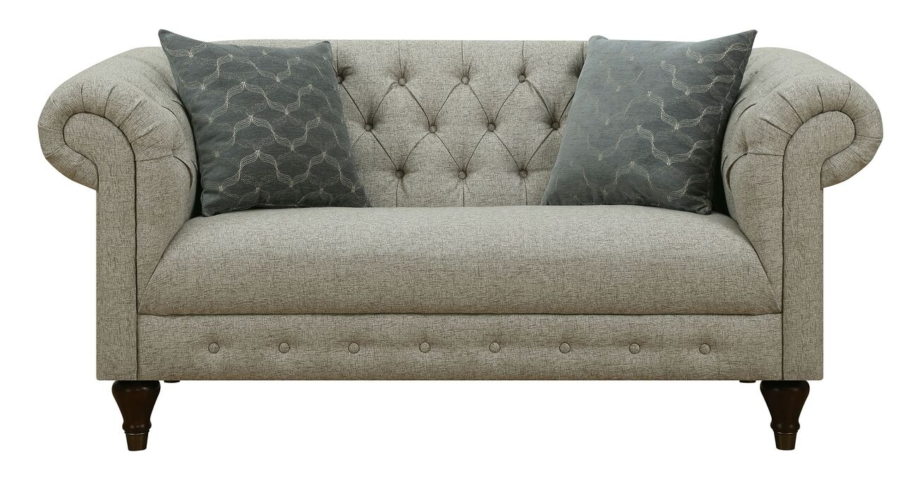 Donny Osmond Home Florence 505551 Chesterfield Style Modern Vintage Regarding Florence Grand Sofas (Image 4 of 15)