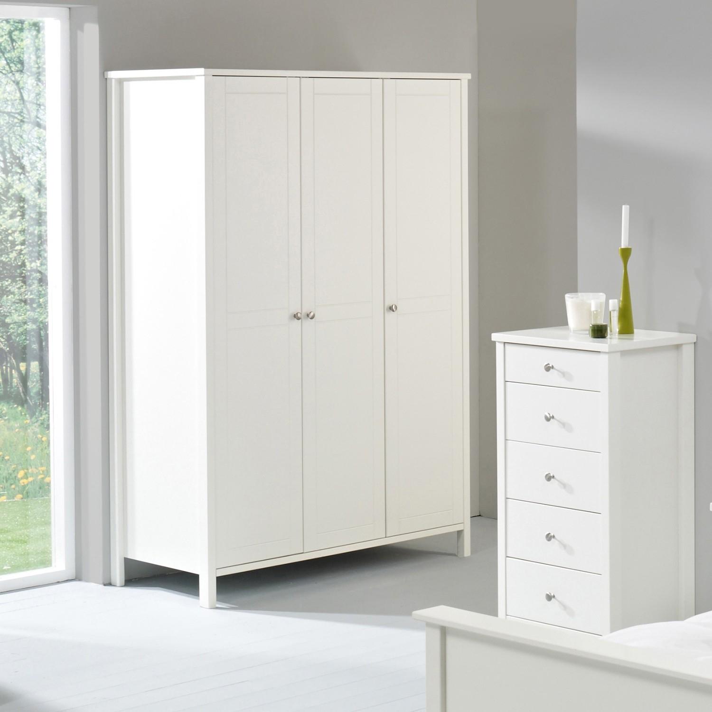 Door Three Door White Wardrobe Throughout 3 Door White Wardrobes (View 16 of 25)