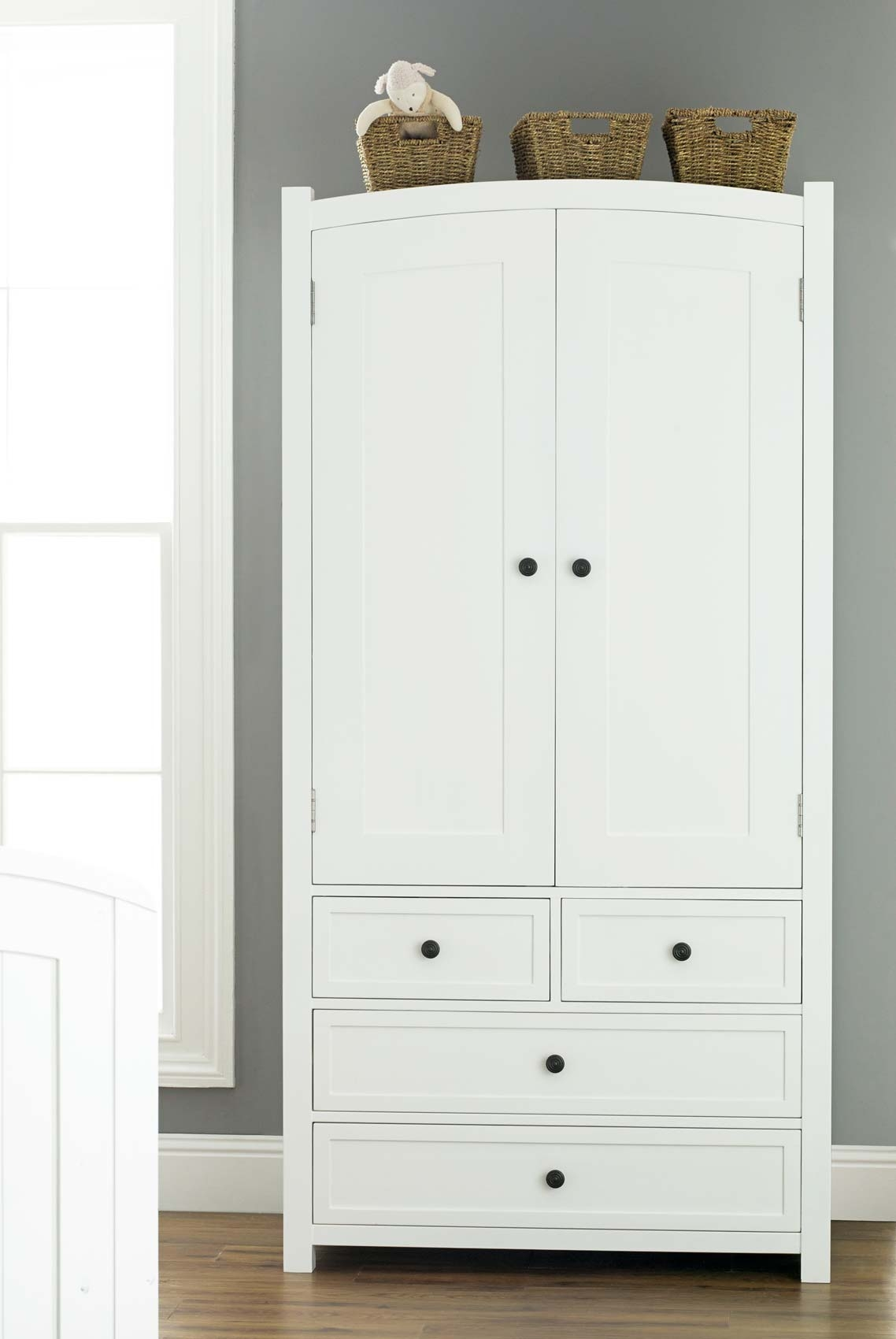 Doorless Kids Wardrobe With Drawers From Light Wood Material With Wardrobes With Shelves And Drawers (Image 8 of 15)