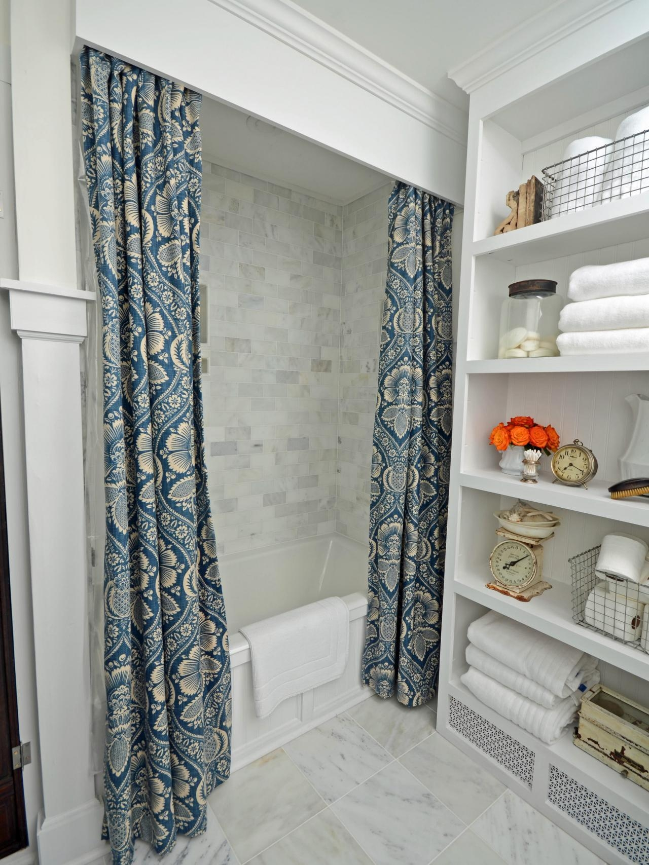 Double Panel Shower Curtains Throughout Double Panel Shower Curtains (View 4 of 25)