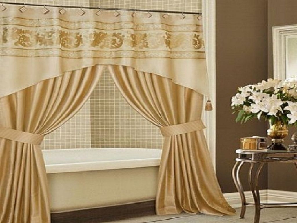 Double Swag Shower Curtain Curtains Decoration Pertaining To Double Panel Shower Curtains (View 11 of 25)